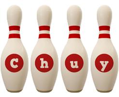 Chuy bowling-pin logo