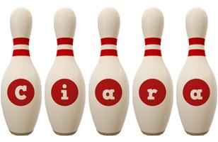 Ciara bowling-pin logo