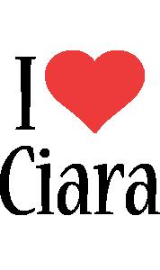 Ciara i-love logo