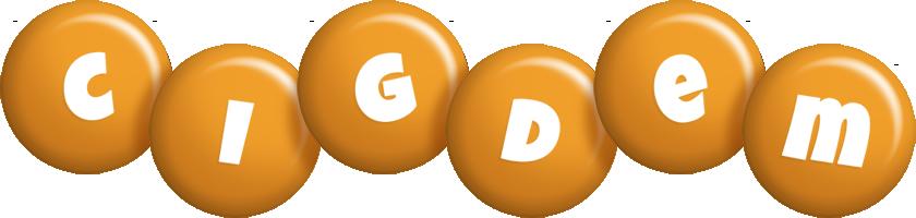 Cigdem candy-orange logo