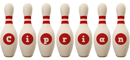 Ciprian bowling-pin logo