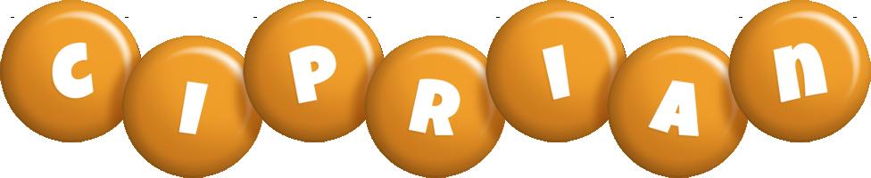 Ciprian candy-orange logo