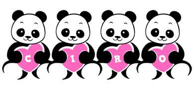 Ciro love-panda logo