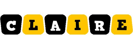 Claire boots logo