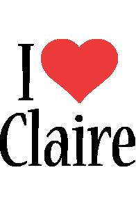 Claire i-love logo