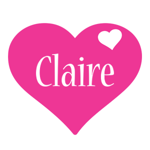 Claire love-heart logo