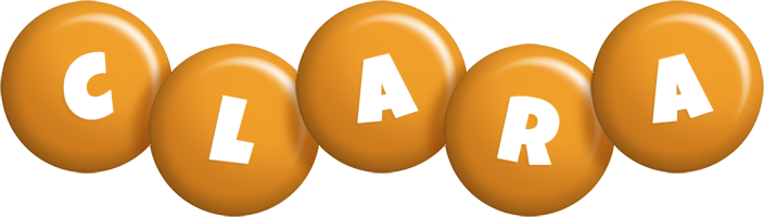Clara candy-orange logo