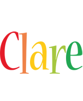 Clare birthday logo