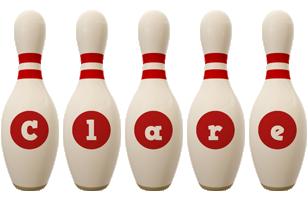 Clare bowling-pin logo