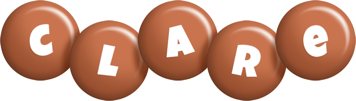 Clare candy-brown logo