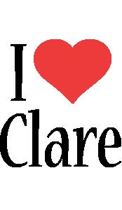 Clare i-love logo