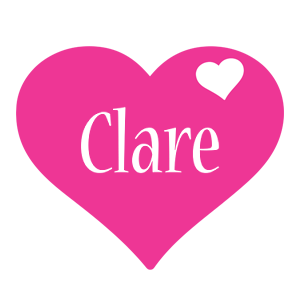 Clare love-heart logo