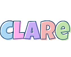Clare pastel logo