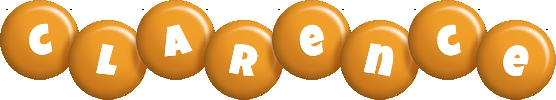 Clarence candy-orange logo