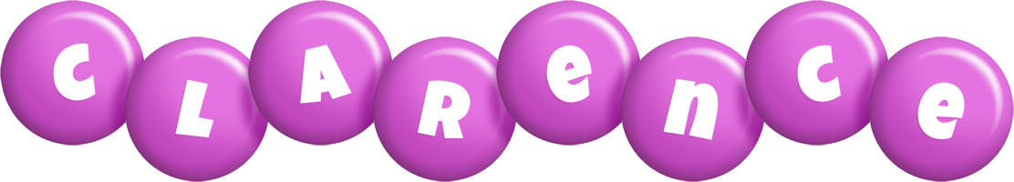 Clarence candy-purple logo