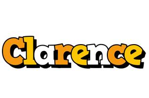 Clarence cartoon logo
