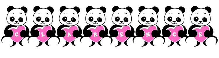 Clarence love-panda logo