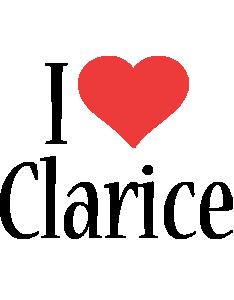 Clarice i-love logo