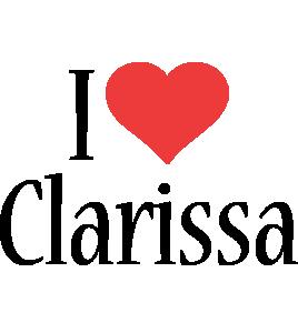 Clarissa i-love logo