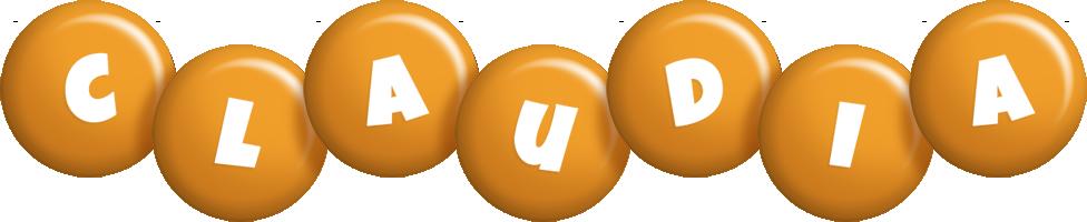 Claudia candy-orange logo