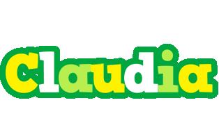 Claudia soccer logo