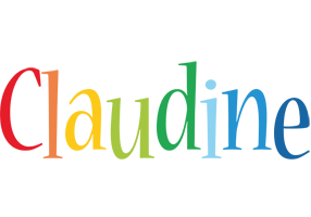 Claudine birthday logo