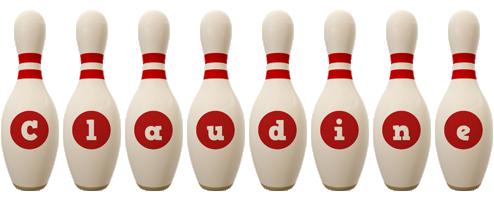 Claudine bowling-pin logo