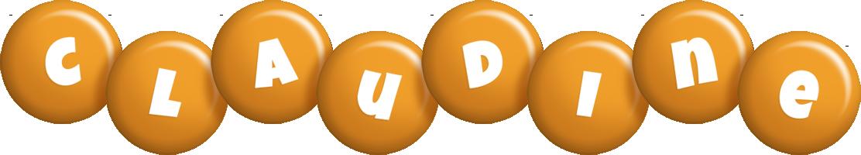 Claudine candy-orange logo