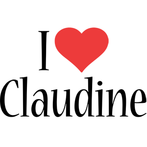 Claudine i-love logo