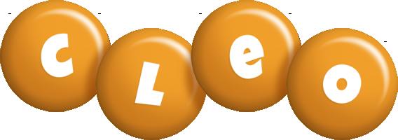 Cleo candy-orange logo