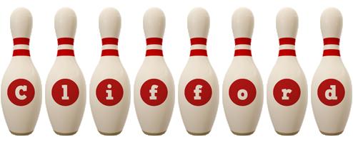 Clifford bowling-pin logo