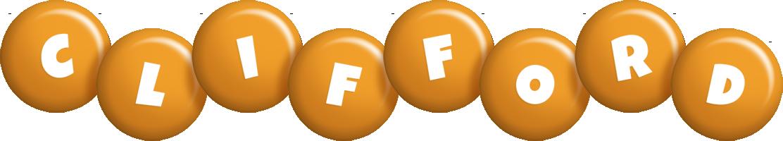 Clifford candy-orange logo