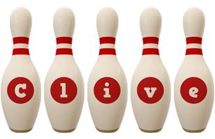 Clive bowling-pin logo
