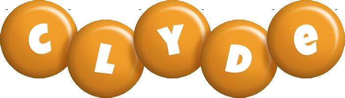 Clyde candy-orange logo