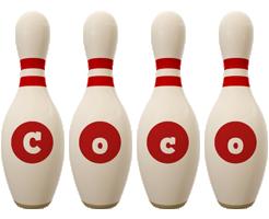 Coco bowling-pin logo