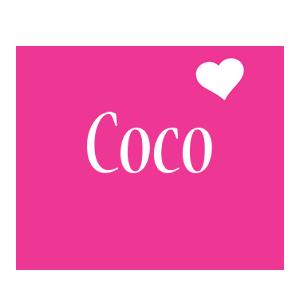 Coco love-heart logo