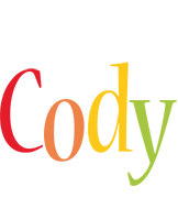 Cody birthday logo