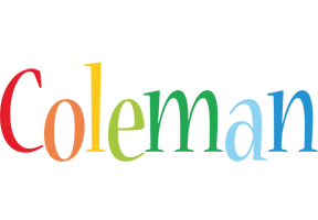Coleman birthday logo