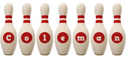 Coleman bowling-pin logo