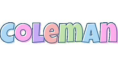 Coleman pastel logo