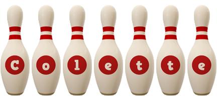 Colette bowling-pin logo