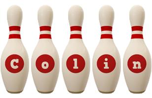 Colin bowling-pin logo
