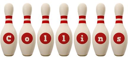 Collins bowling-pin logo