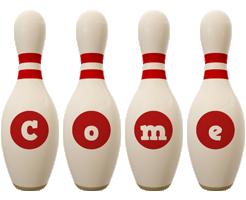 Come bowling-pin logo