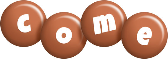 Come candy-brown logo