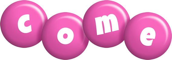 Come candy-pink logo