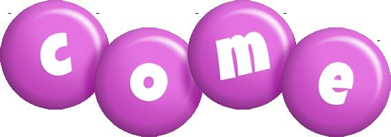 Come candy-purple logo