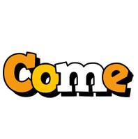 Come cartoon logo