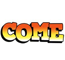 Come sunset logo