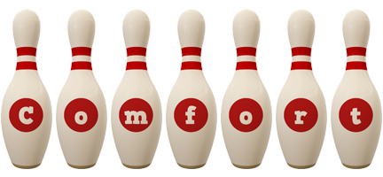 Comfort bowling-pin logo